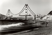 Golden Gate Fishermen, S.F. Framed Print