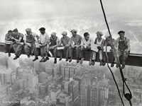 Lunchtime Atop a Skyscraper, c.1932 Framed Print