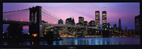 Brooklyn Bridge and New York City Skyline Framed Print