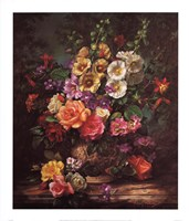 Still Life with Hollyhocks Fine Art Print