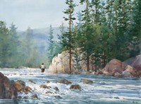 Wading Up a River Fine Art Print