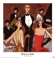 Dames du la Soiree Framed Print