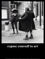 Expose Yourself to Art Framed Print