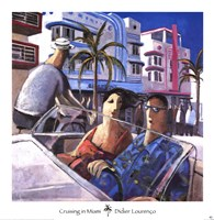 Cruising in Miami Framed Print