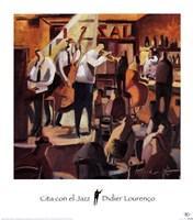 Cita con el Jazz Framed Print