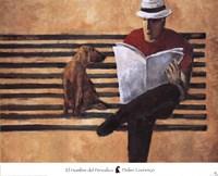 El Hombre del Periodico Fine Art Print