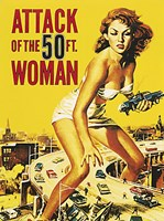 Attack of the 50 ft. Woman Framed Print