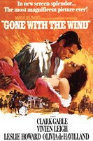 Gone with the Wind - Orange Framed Print