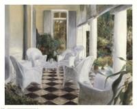 White Summer Terrace Fine Art Print