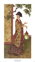 Lady with a Lantern Framed Print
