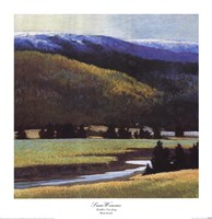 Foothills In The Late Spring Fine Art Print