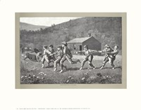 Snap the Whip, c.1872 (B&W) Fine Art Print