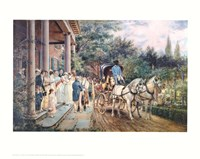 Wedding in the 1830'S Fine Art Print