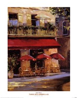 Three Red Umbrellas Framed Print