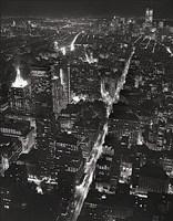 Night View of Lower Manhattan Framed Print