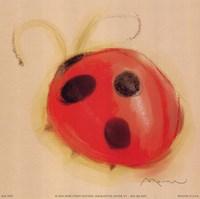 Ladybug On Taupe Fine Art Print