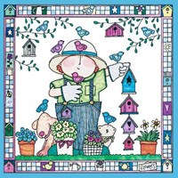 Garden Kids - birdhouses Fine Art Print
