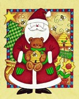 Santa and Bear Fine Art Print