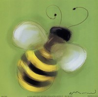 Bee On Green Fine Art Print