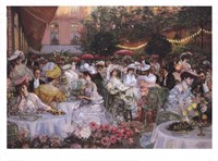 Georges Jeanniot - Le Diner A' L'Hotel Ritz Framed Print