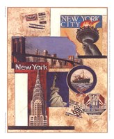 New York Collage Framed Print