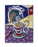 Coffee on the Verandah Fine Art Print