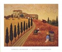 Village Landscape Fine Art Print