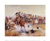 Bronc To Breakfast Framed Print