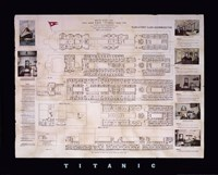 Titanic Deck Plan Framed Print