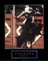 Courage-Bull Rider Fine Art Print