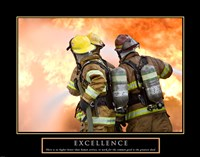 Excellence - Three Firemen Framed Print
