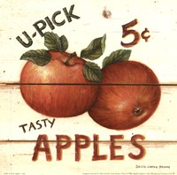 U-Pick Apples Framed Print