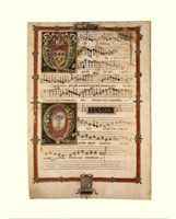 Polyphonic Hymns Magnificats (Tenor) Framed Print