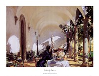 Breakfast In The Loggia Fine Art Print