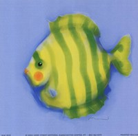 Green Striped Fish Fine Art Print