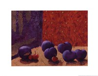 Plums and Cherries II Fine Art Print
