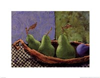 Plums and Pears I Fine Art Print