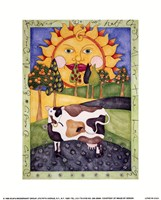 Daisy, Daisy Cow Framed Print