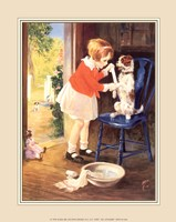 Playing Nurse - Sick Dog Fine Art Print