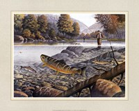 Jumping Trout Framed Print