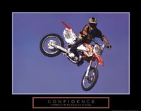 Confidence - Motorbiker Framed Print