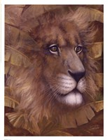 Safari Lion Framed Print