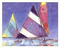 Saucy Sails Framed Print