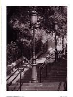 Les Escaliers De Montmartre Framed Print