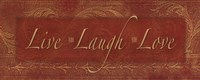 Live Laugh Love - red Fine Art Print