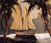 Sailboat, Santa Barbara Fine Art Print