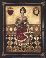 Harlequin Queen - Mini Framed Print