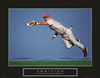 Ambition - Baseball Player Fine Art Print