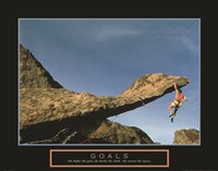 Goals - Rock Climber Fine Art Print