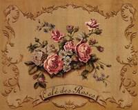 Cafe Des Roses Framed Print